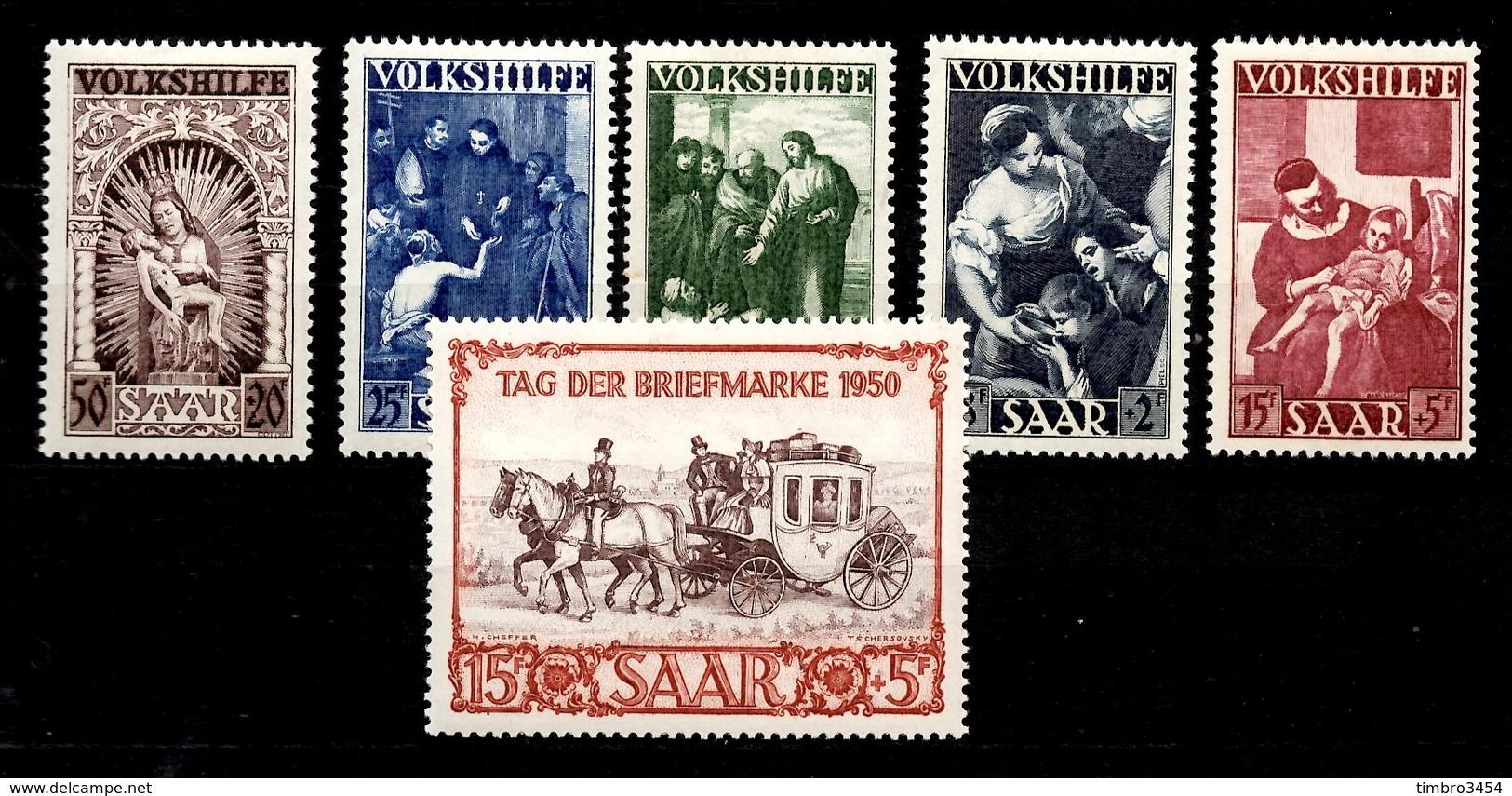 Sarre YT N° 263/267 Et N° 270 Neufs ** MNH. TB. A Saisir! - 1947-56 Occupation Alliée