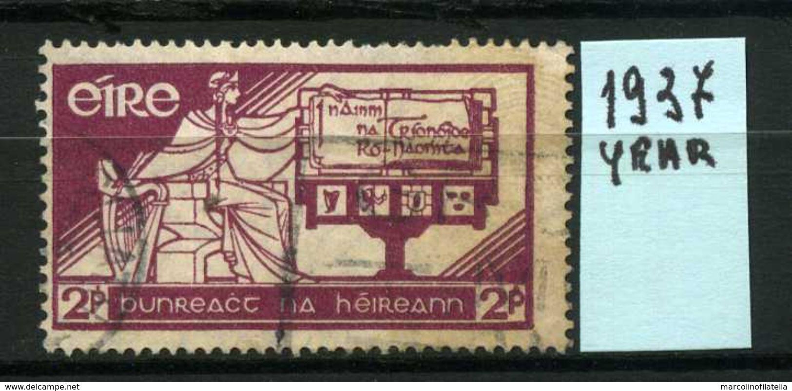 EIRE - IRLANDA - Year 1937 - Usato - Used - Utilisè - Gebraucht . - Usati