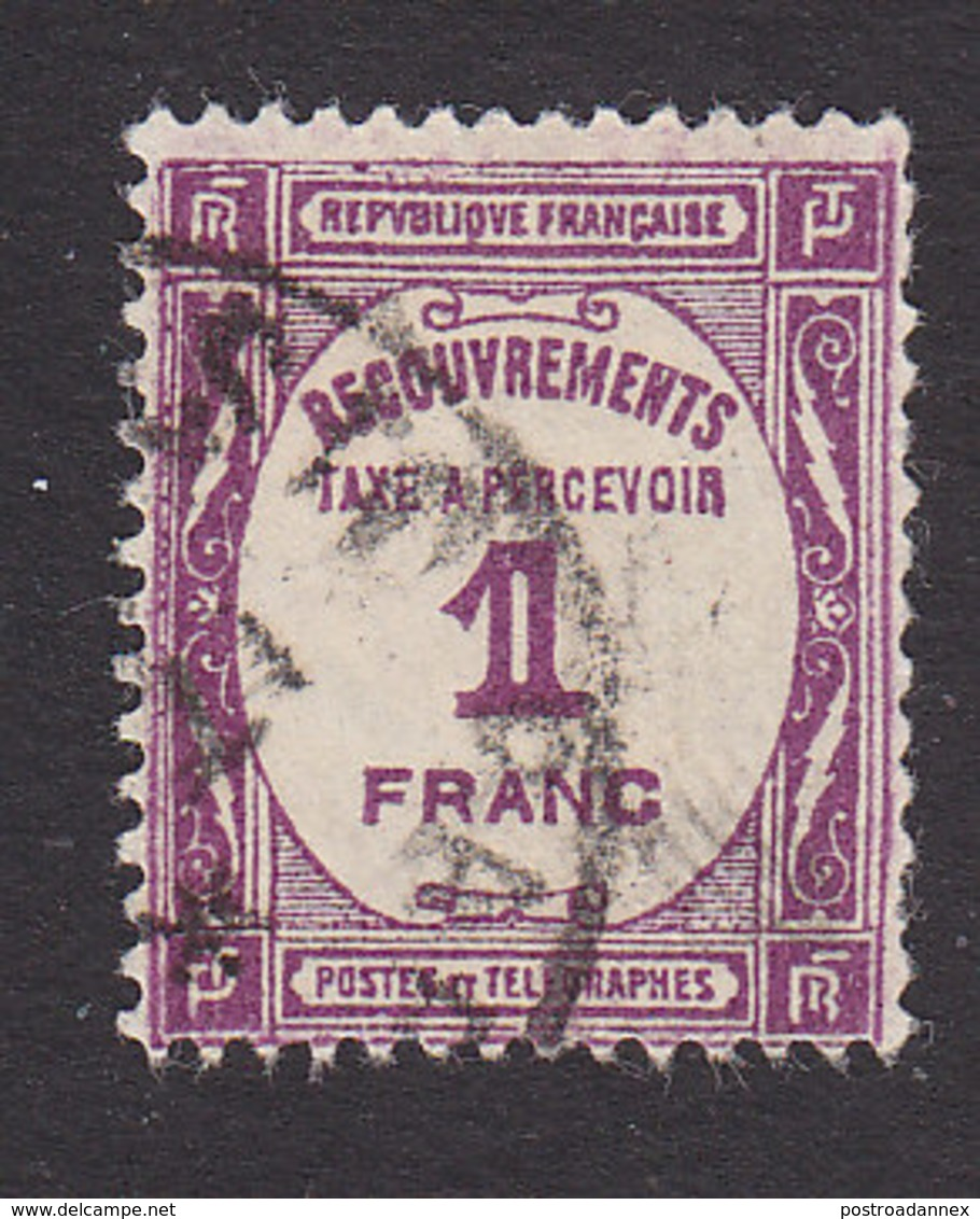 France, Scott #J62, Used, Postage Due, Issued 1927 - Postage Due