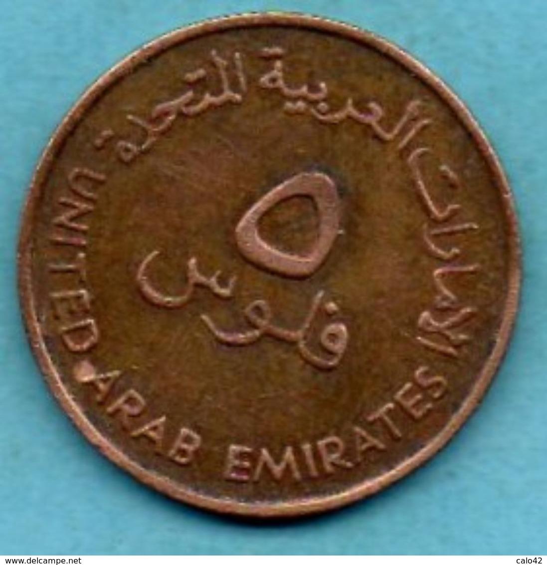 R40/  EMIRATS ARABES / ARAB EMIRATES  5 FILS 1973 / 1393 FAO - Emirats Arabes Unis