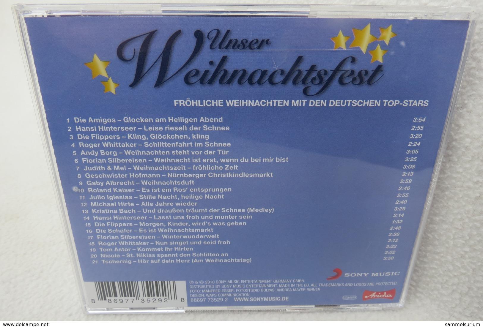"""CD """"Unser Weihnachtsfest"""" Fröhliche Weihnachten Mit Den Deutschen Top Stars - Sonstige - Deutsche Musik"""