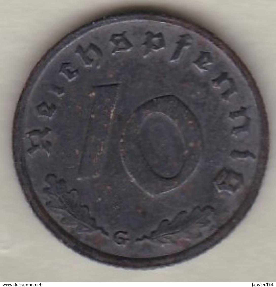 10 Reichspfennig 1938 G (KARLSRUHE)  Bronze-aluminium - 10 Reichspfennig