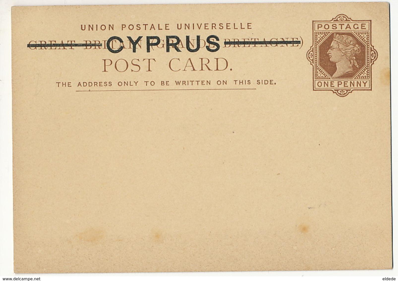 Cyprus Chypre  Postal Stationery Great Britain Cyprus - Chypre