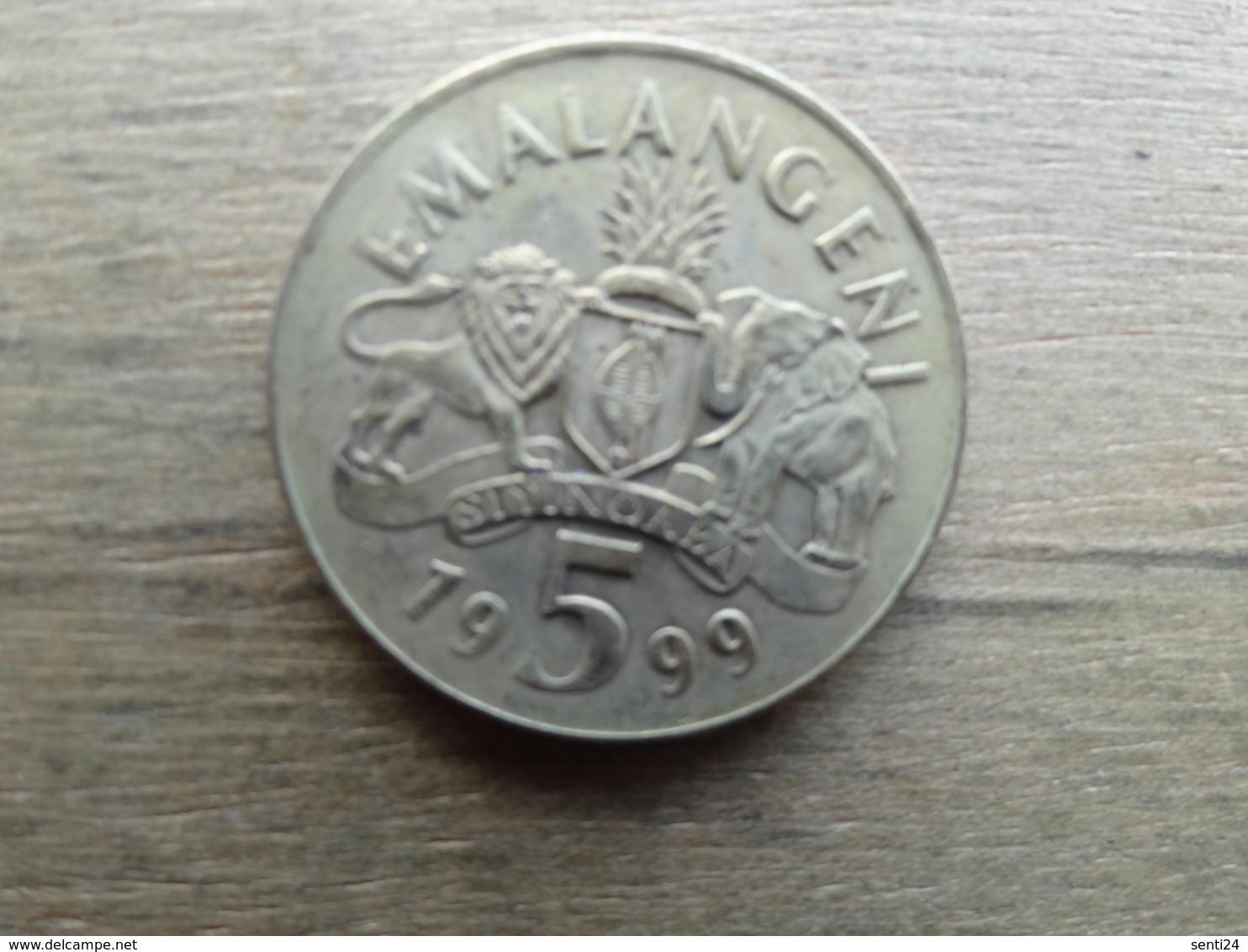 Swaziland  5  Emalangeni  1999  Km 47 - Swaziland