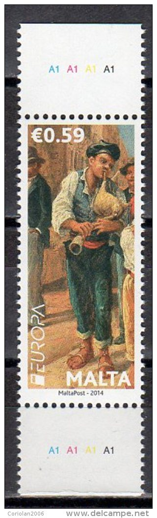 Malta 2014 / Europa CEPT / Musical Instruments / Stamp From Booklet - 2014