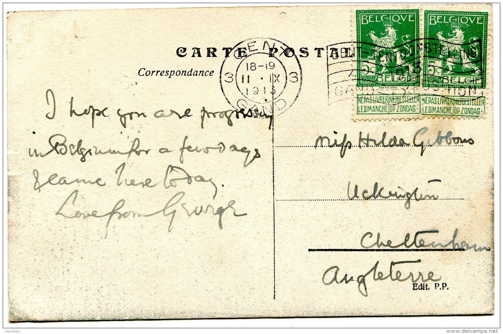 BELGIUM - Gand (Gent) - 1913 - Exposition Internationale  - Entree Principale -  VG Stamps And Postmark - Exposiciones