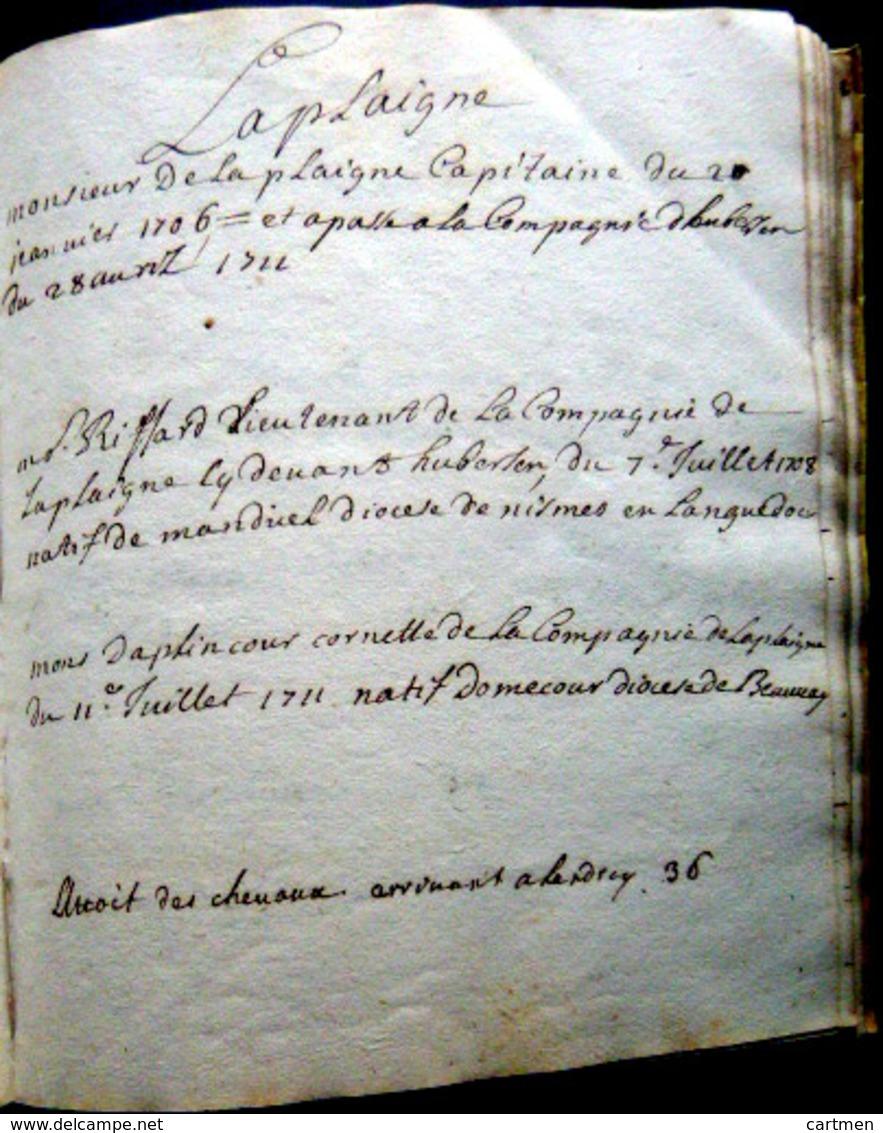 MANUSCRIT DE STRATEGIE MILITAIRE 1711 INSTRUCTIONS MANOEUVRES COMPAGNIES BRIGANDAGES DANS LE PLAT PAYS - Documents Historiques