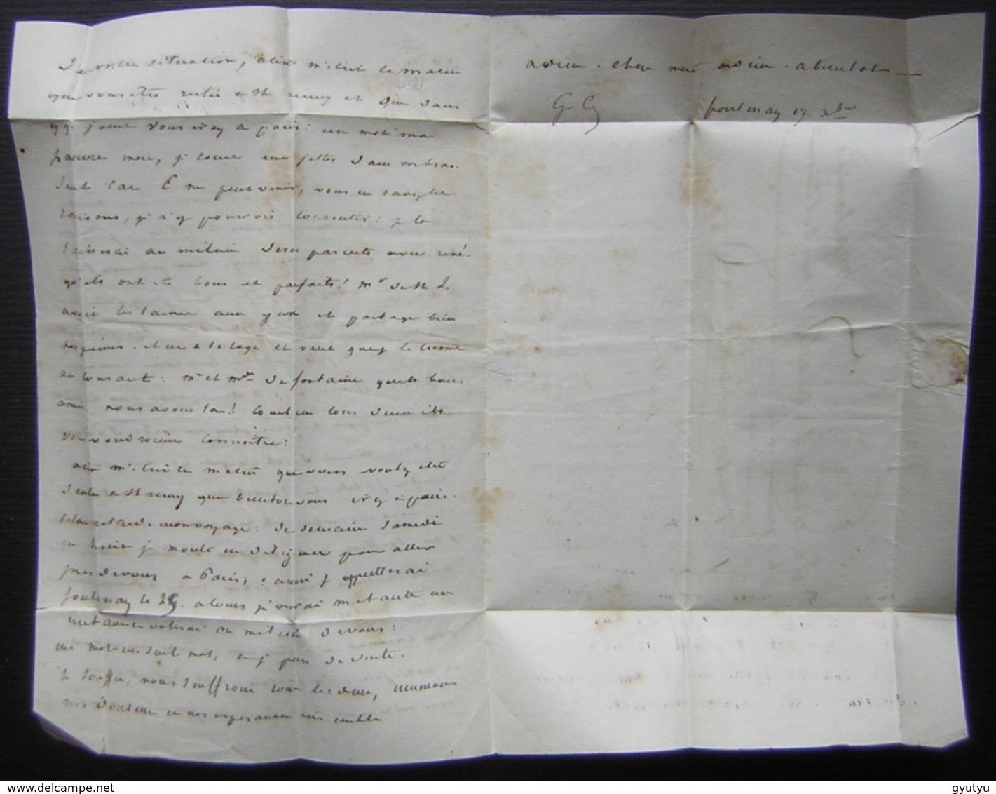 """Naufrage De """"la Vedette"""" à Miquelon (1841) Disparition Du Commandant De Cintré, émouvante Lettre De Son Frère à Sa Mère - Manuscrits"""
