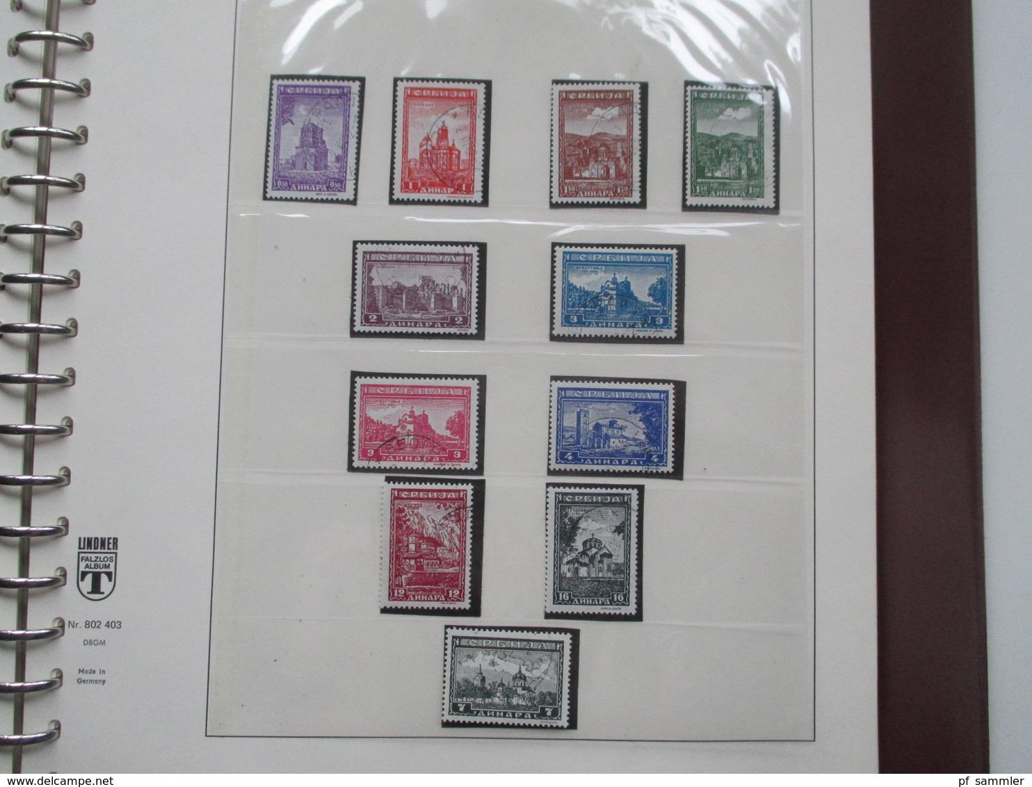 Besetzung 2.WK Kanal Inseln / Serbien / Montenegro / Elsass / Lothringen / Luxemburg Sammlung Im VD Album. Mit Belegen! - Briefmarken