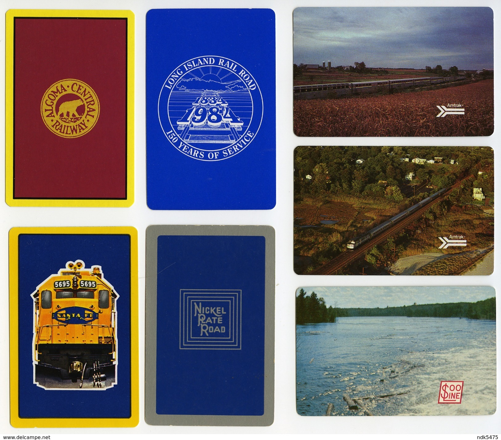19 US RAILWAY PLAYING CARDS : ALL DIFFERENT - Railway