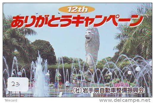 Telefonkarte SINGAPORE Verbunden (23) - Telecarte SINGAPORE Reliée - Phonecard SINGAPORE Related - Japan - Paisajes