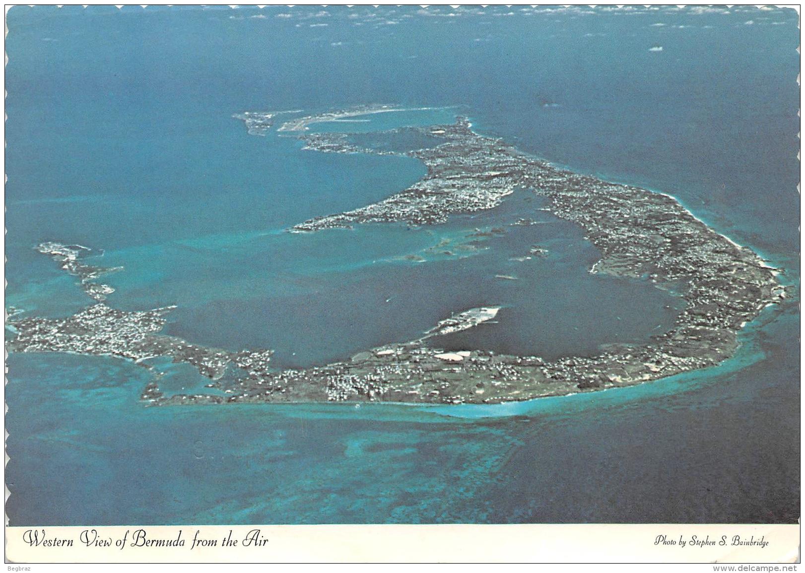 WESTERN VIEW OF BERMUDA    TIMBRE - Bermudes
