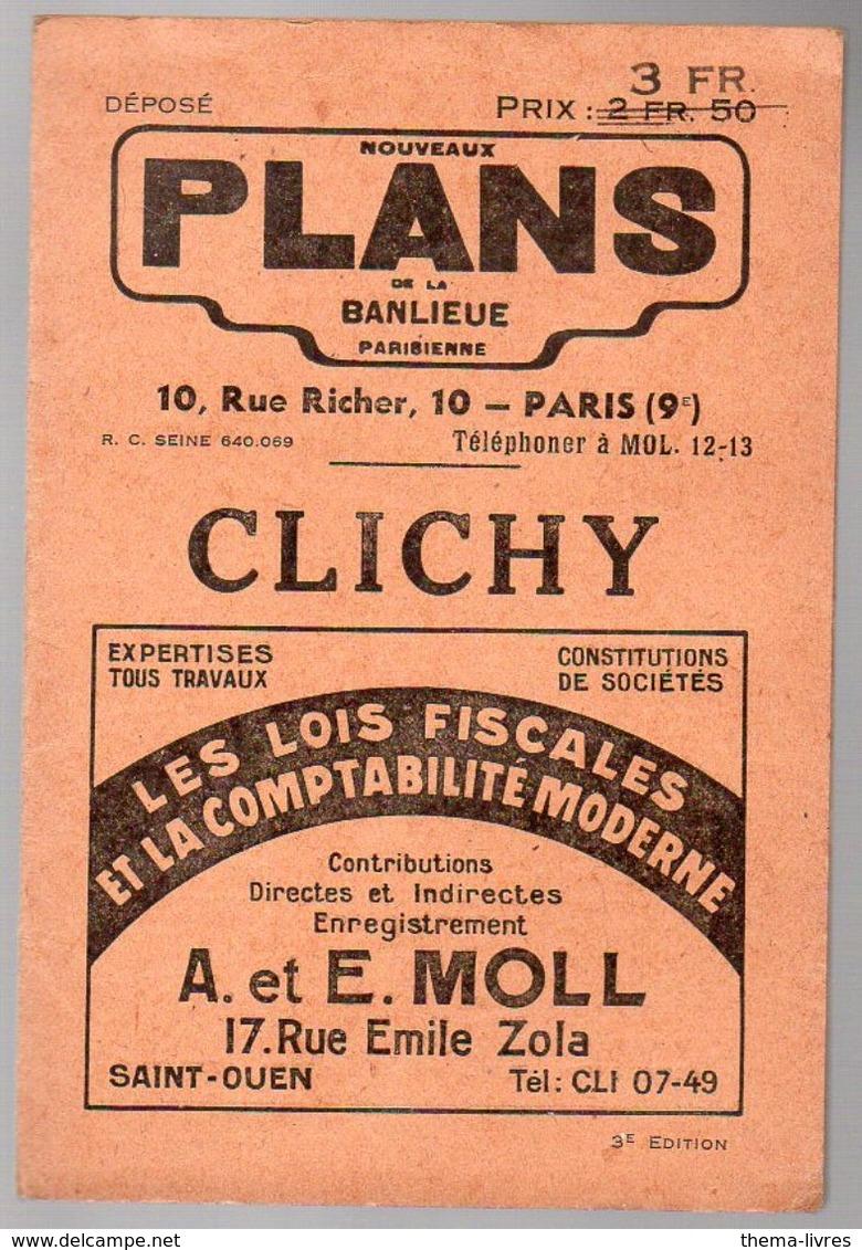 Clichy (92 Hauts De Seine )( Plans De La Banlieue ) (PPP7910) - Cartes Routières