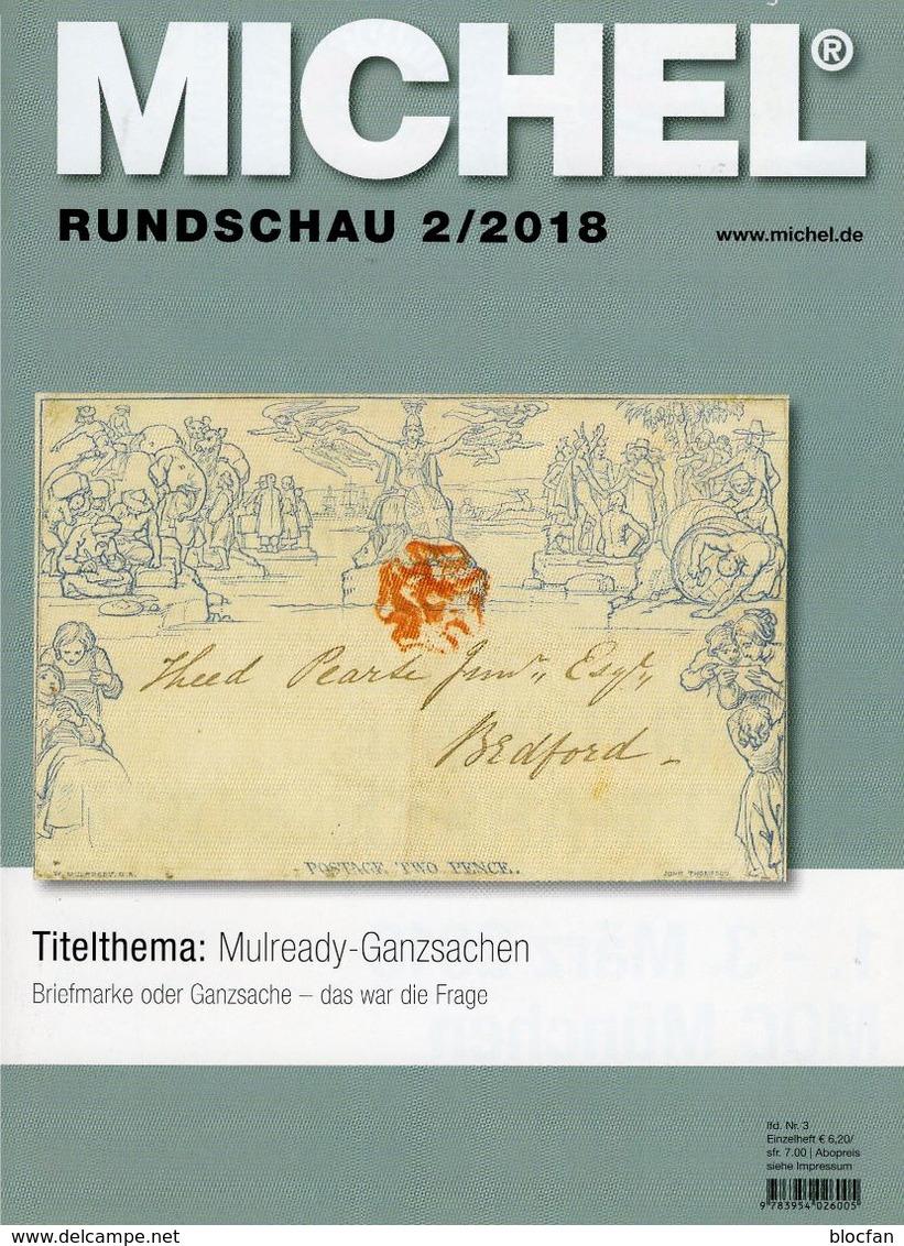 MICHEL Briefmarken Rundschau 2/2018 Neu 6€ Stamps Of The World Catalogue/magacine Of Germany ISBN 978-3-95402-600-5 - German