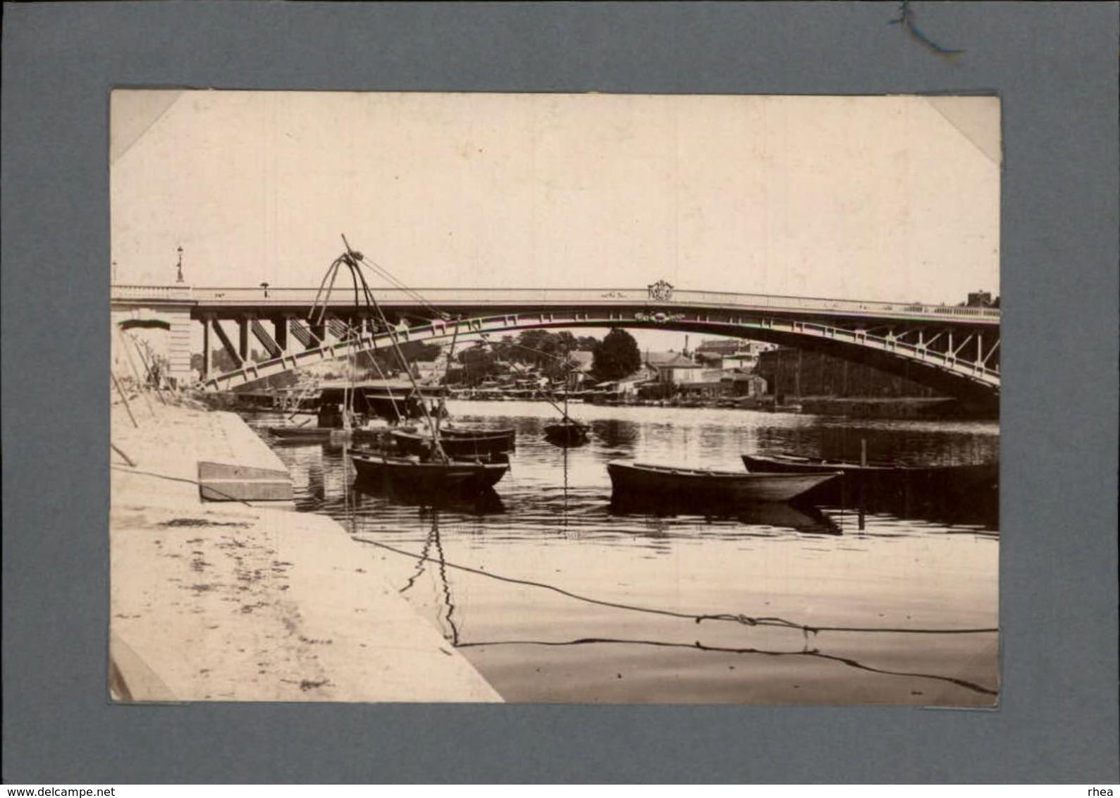44 - NANTES - Très Belle Photo - Pont De La Motte-Rouge - Lieux