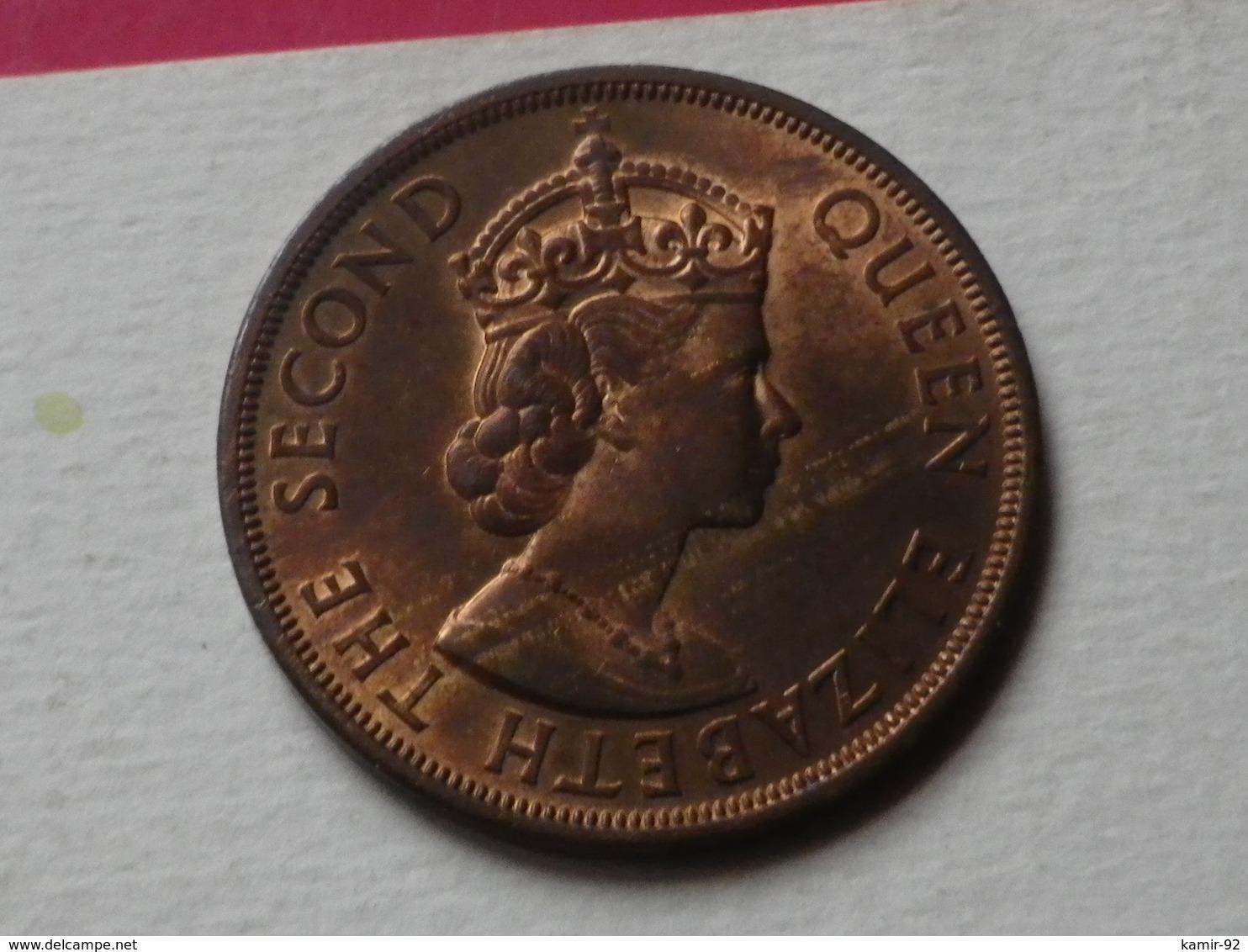 Caraibes 2 Cents 1965 Km#3   Bronze  Superbe - Caraïbes Orientales (Etats Des)