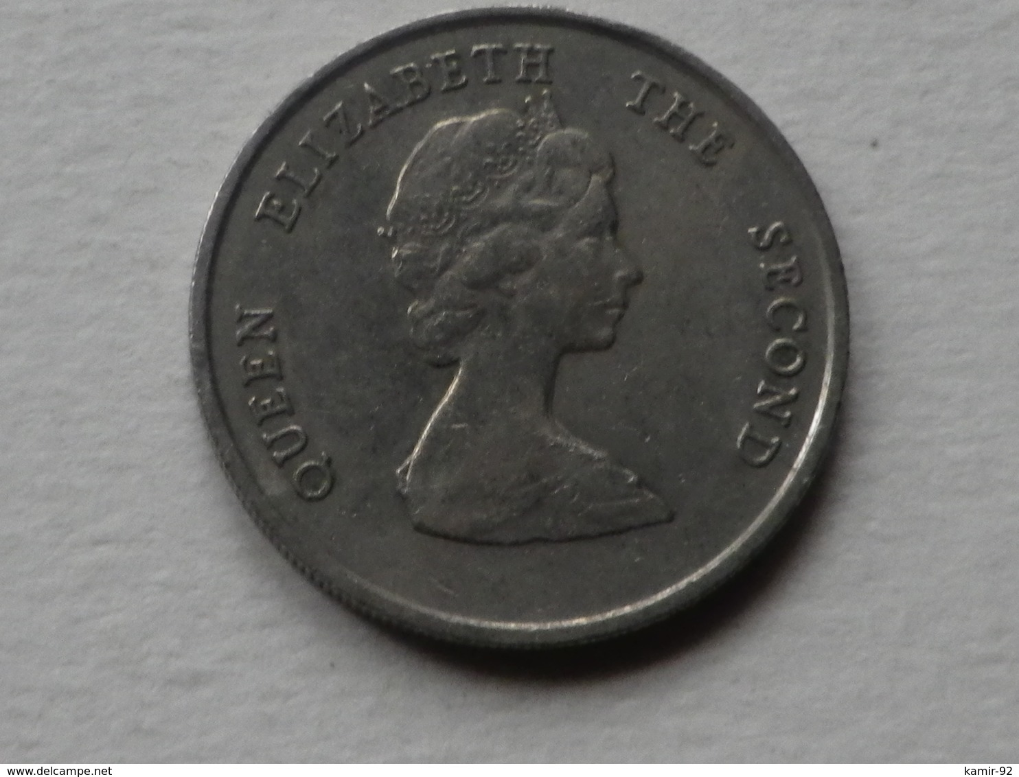 Caraibes 25 Cents  1980      Km#6   Cupronickel    TTB - Caraïbes Orientales (Etats Des)