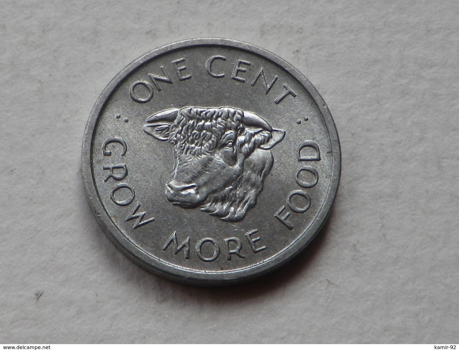 Seychelles 1 Cent FAO 1972      Km#17 Grew More Food/ Elisabeth II Aluminium TTB+++ - Seychelles