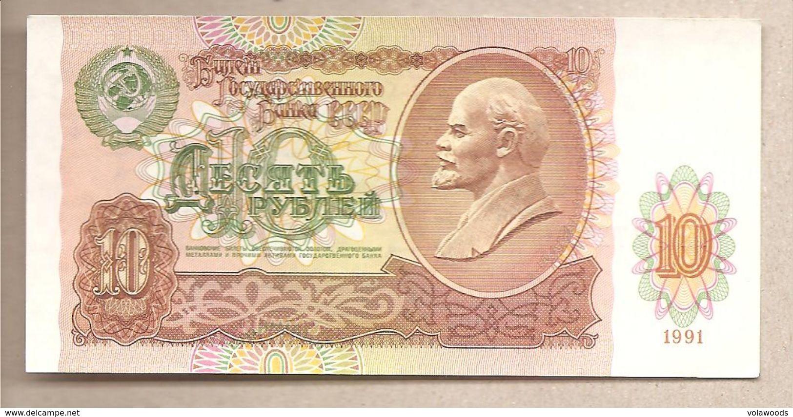 URSS - Banconota Non Circolata FdS Da 10 Rubli P-240a - 1991 - Russia