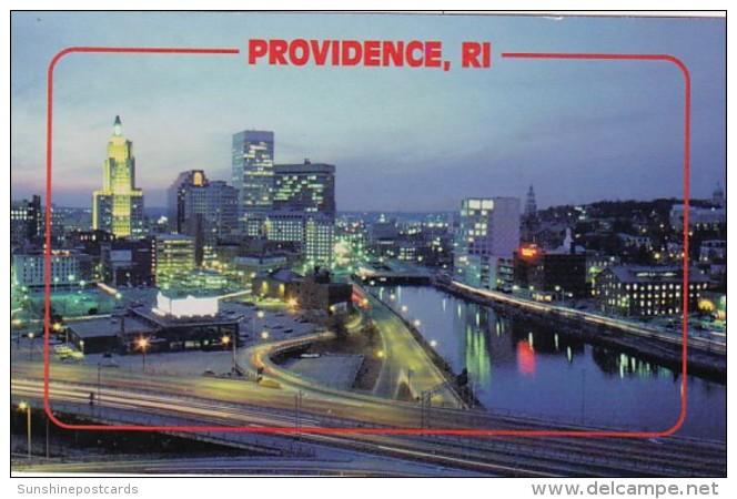 Rhode Island Providence At Night