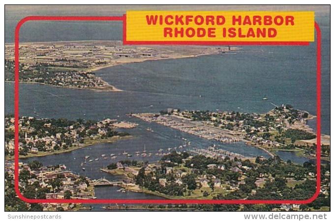 Rhode Island Wickkford Harbor Aerial View