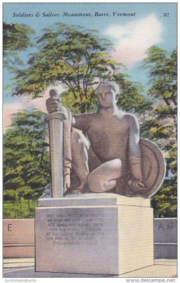 Vermont Barre Soldiers & Sailors Monument
