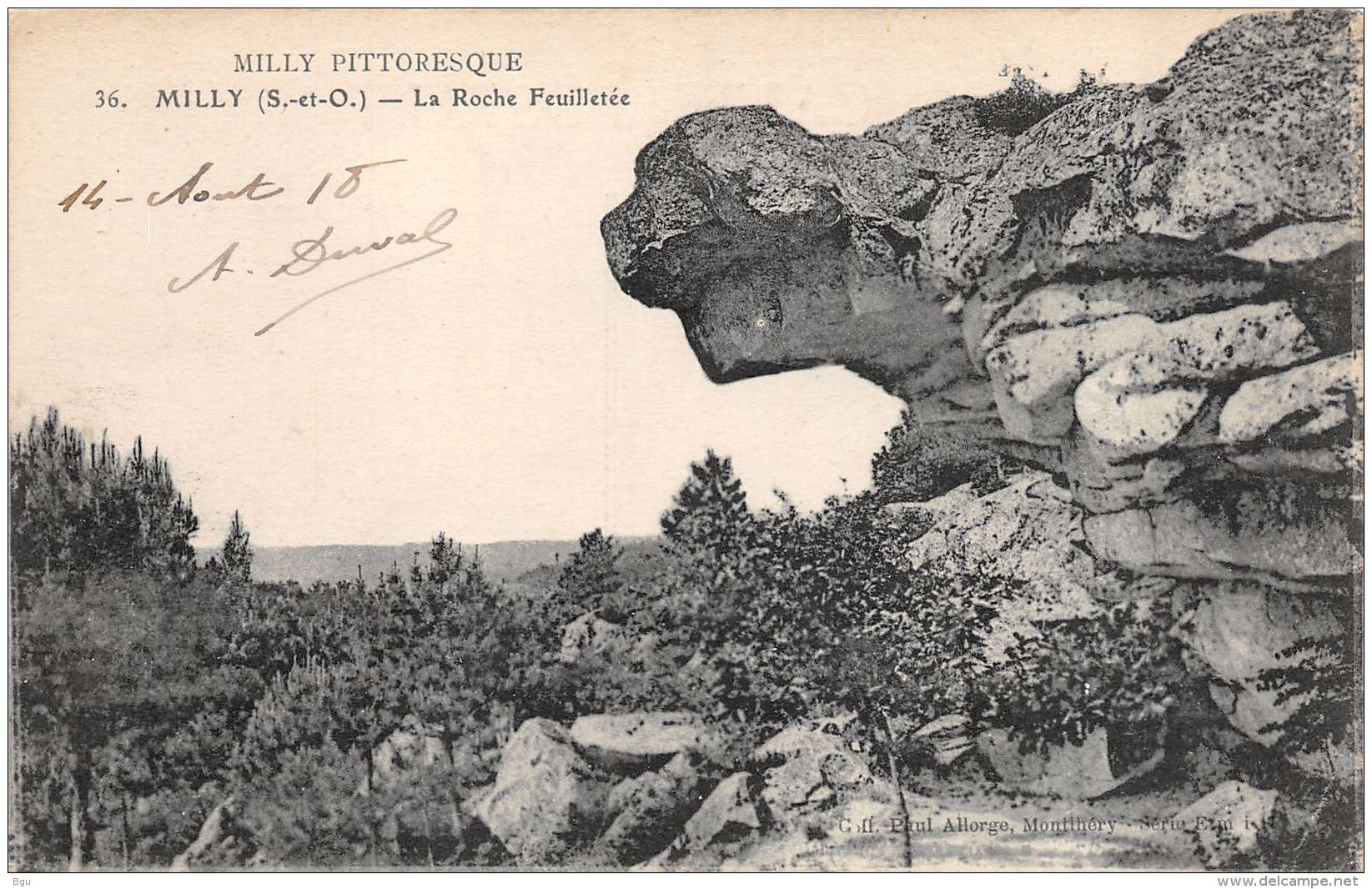 Milly (91) - La Roche Feuilletée - Milly La Foret