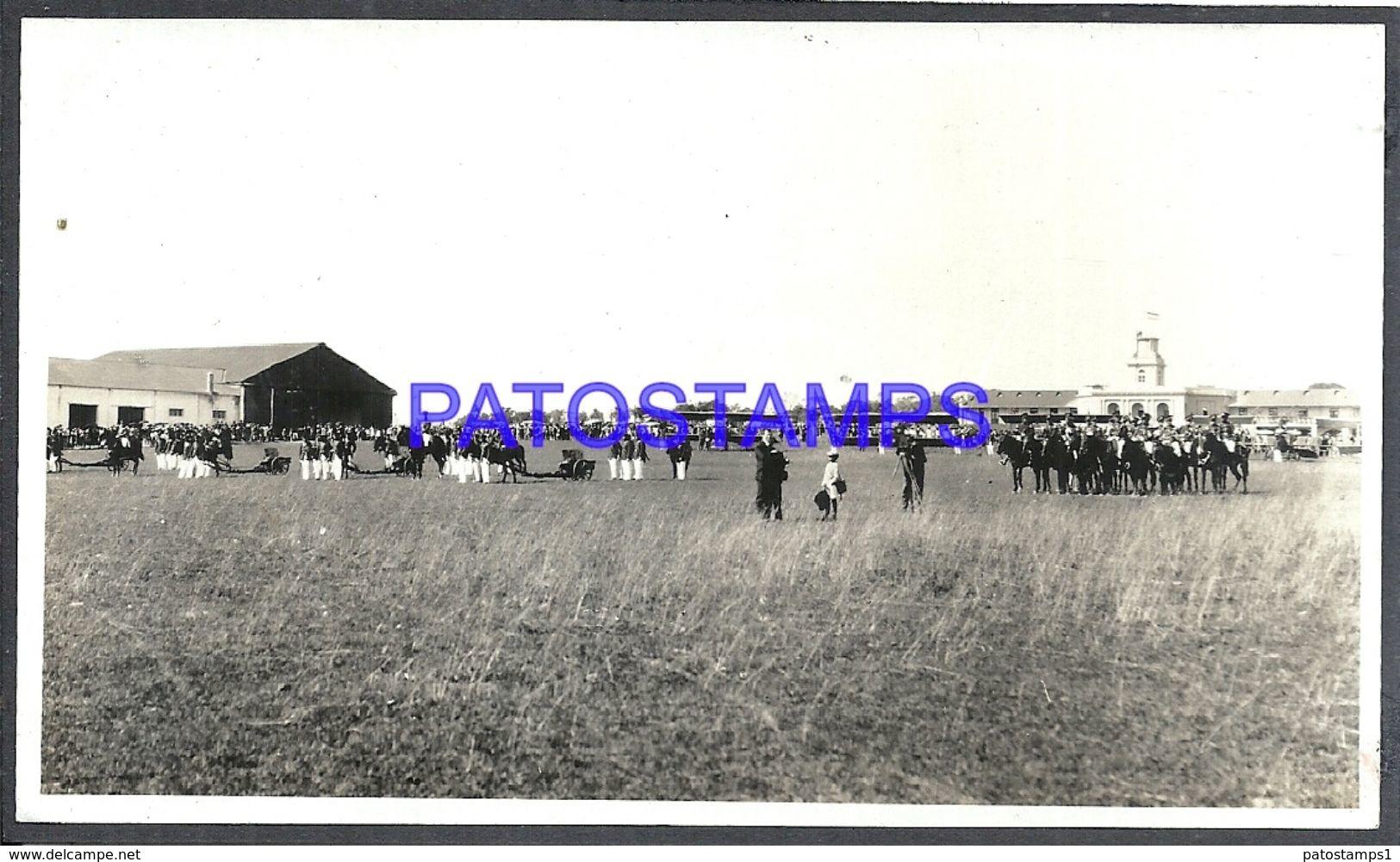 90957 PARAGUAY HELP VISTA PARCIAL MILITARY SOLDIER A HORSE PHOTO NO POSTAL POSTCARD - Fotografie