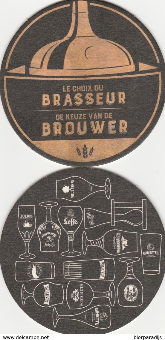 De Keuze Van De Brouwer Leffe Belle Vue Hoegaarden - Sous-bocks