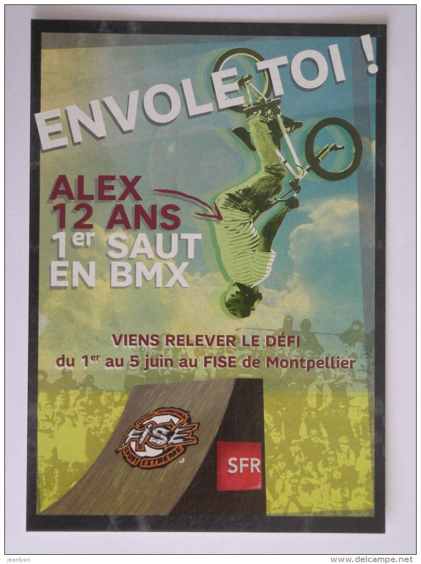 VELO / CYCLE - SAUT EN BMX - Carte Publicitaire Festival Sport Extreme - Cyclisme