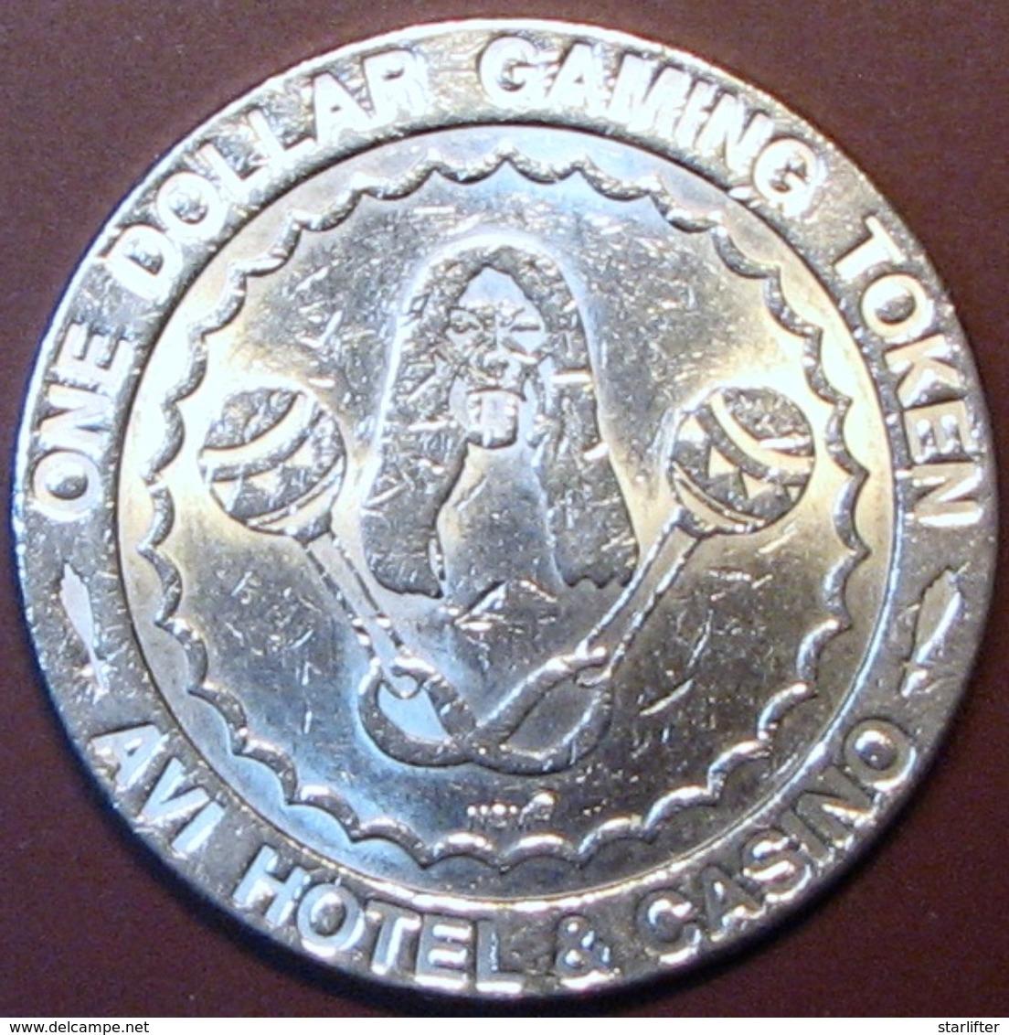 $1 Casino Token. Avi, Laughlin, NV. H90. - Casino