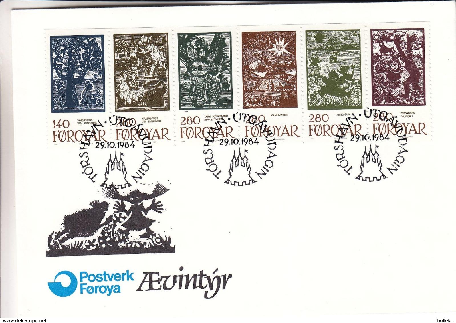Féroé - Lettre FDC De 1984 - Oblit Torshavn - Contes - Valeur 36 Euros - Märchen, Sagen & Legenden