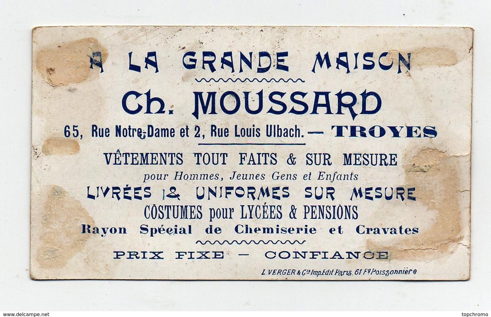 Chromo Moussard Troyes Léopold Verger Patissier Gâteau Chien Enfants Noirs Pain De Sucre - Chromos
