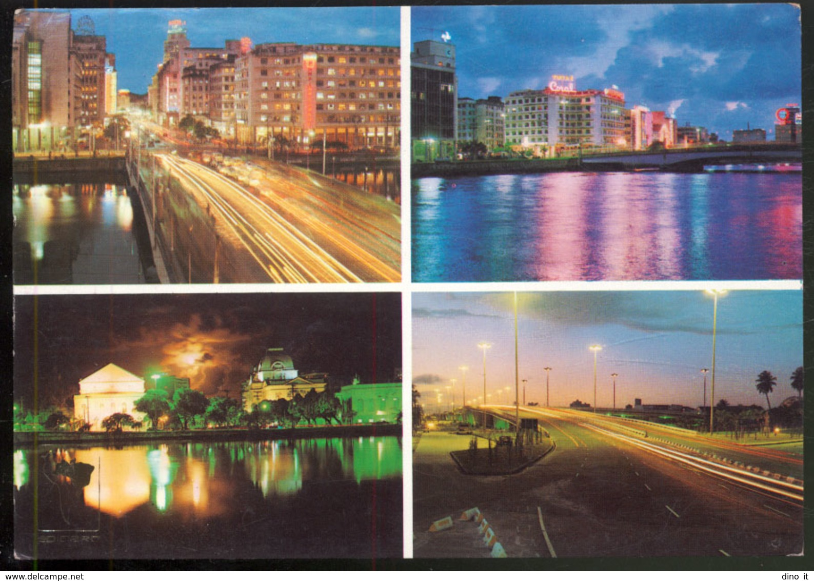 BRASIL - 700-V-04 - RECIFE PE .- Vistas Nocturnas - Recife