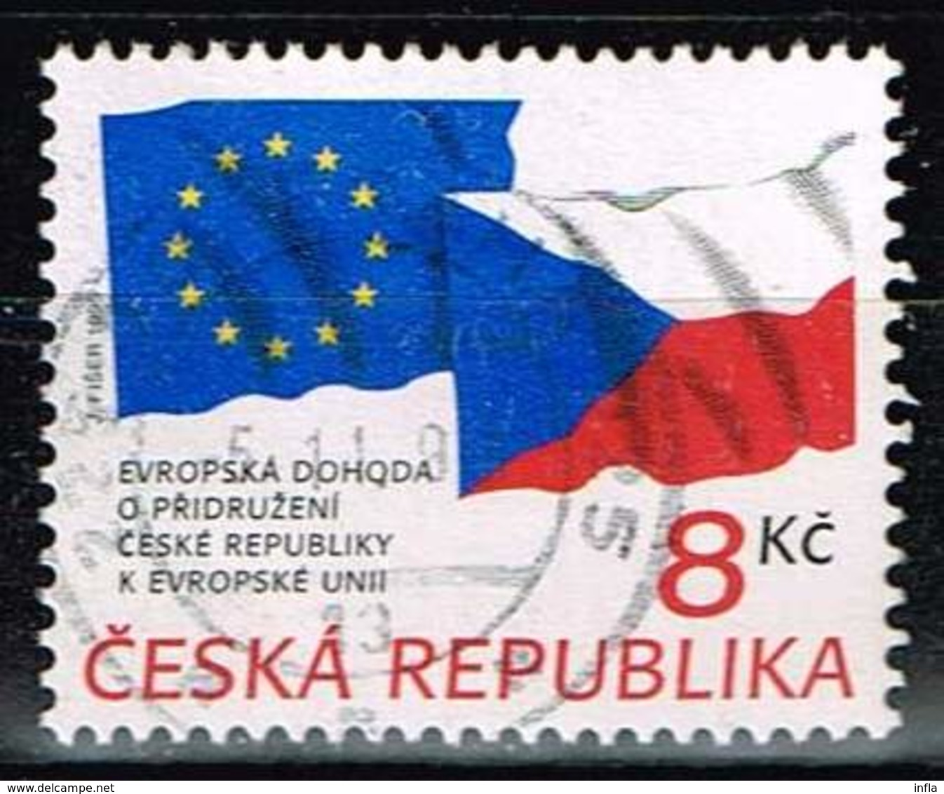 Tschechien 1995, Michel# 62 O Vereinbarung Zwischen Tschechien Und Der EU - Gebraucht
