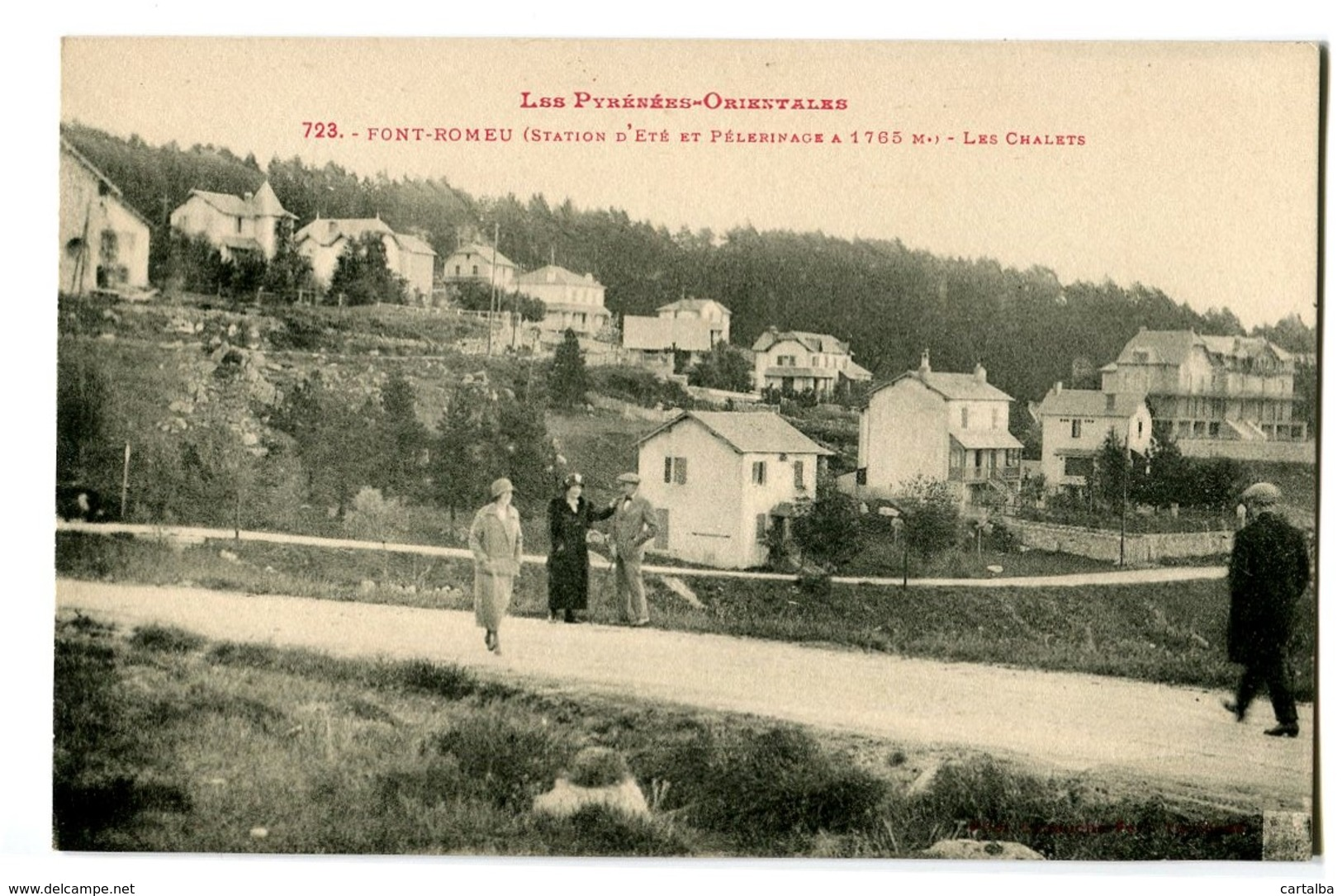 CPA 66 Pyrénées Orientales Font-Romeu Les Chalets Animé - Autres Communes