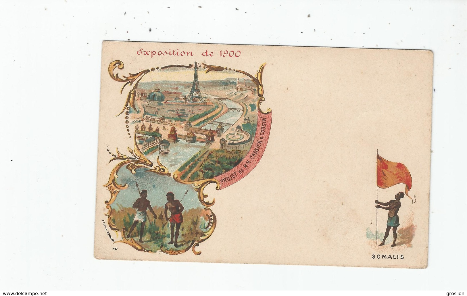 SOMALIS 50 EXPOSITION DE PARIS 1900 (ILLUSTRATIONS) - Somalie