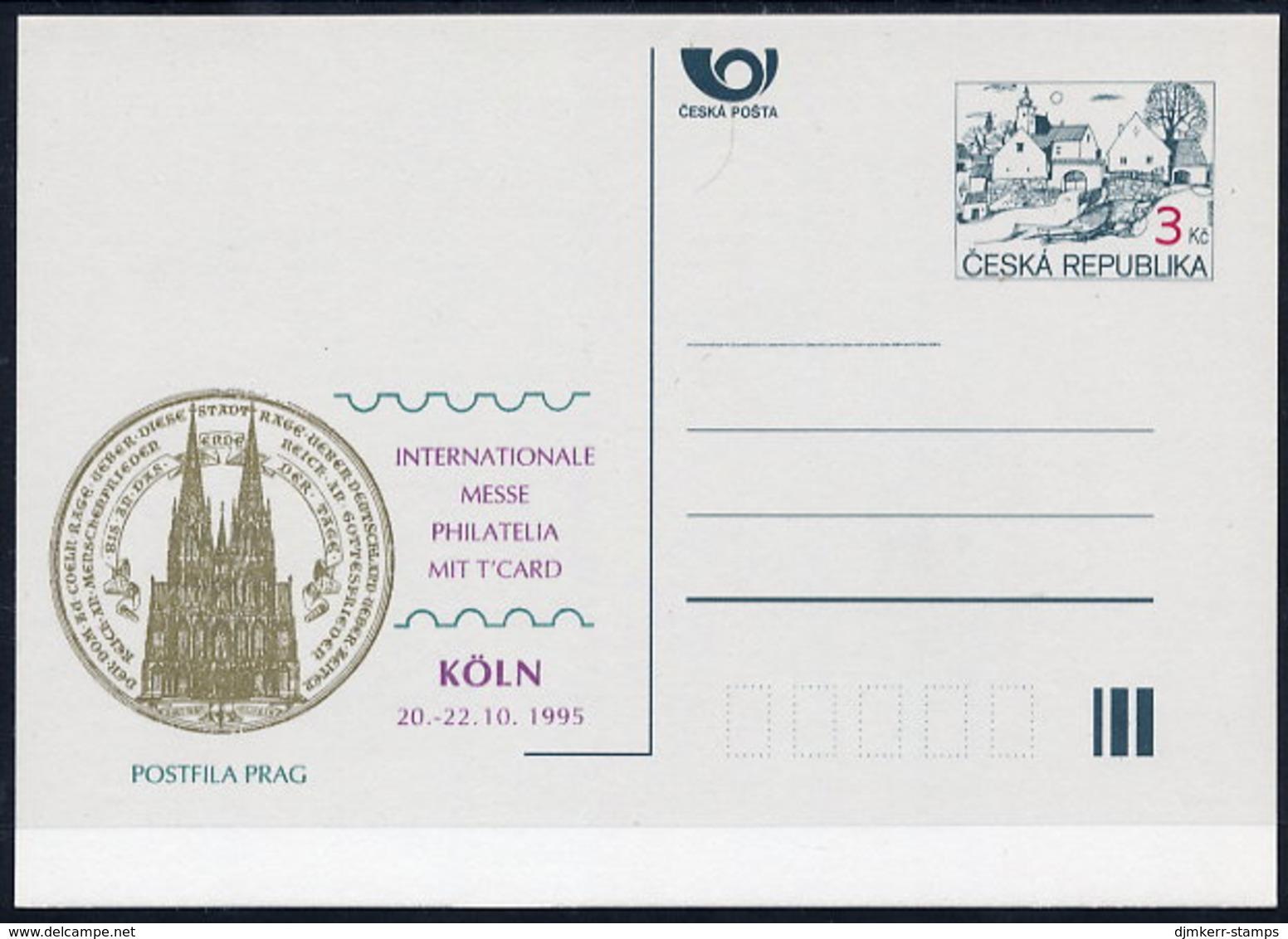 CZECH REPUBLIC 1995 3 Kc.postcard Köln '95 Unused.  Michel P7-A5 - Postal Stationery