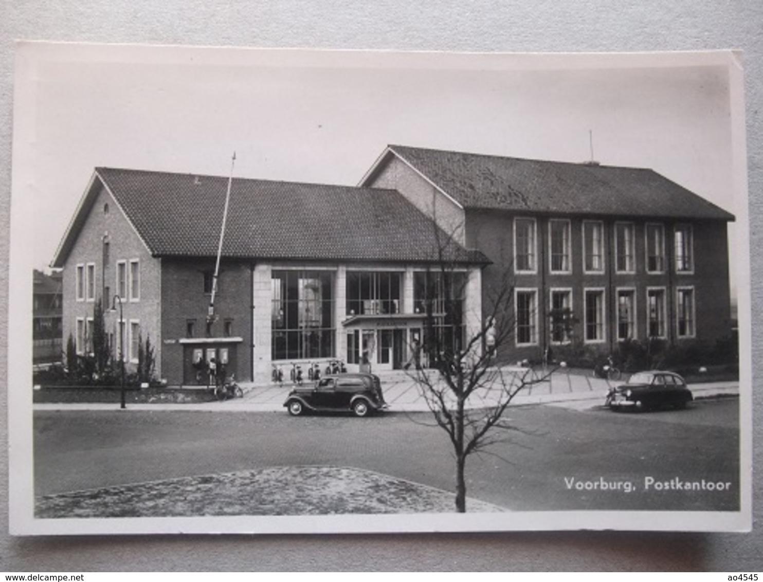 P43 Ansichtkaart Voorburg - Postkantoor - 1951 - Voorburg