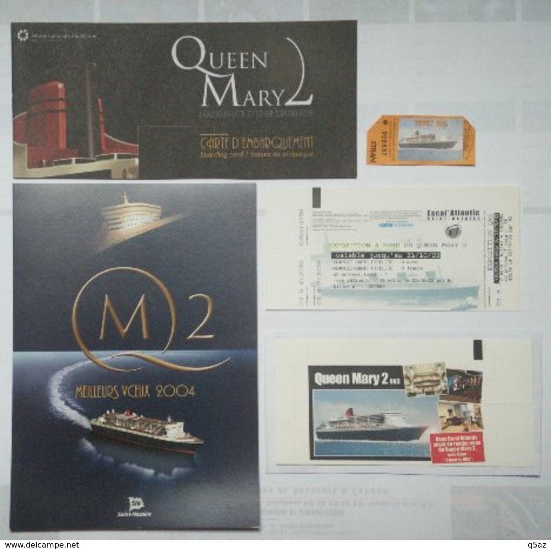 Eq2.j- Paquebot QUEEN MARY 2 Liner Cunard Q.M.2 Cruises    - Lot 1 - Sciences & Technique