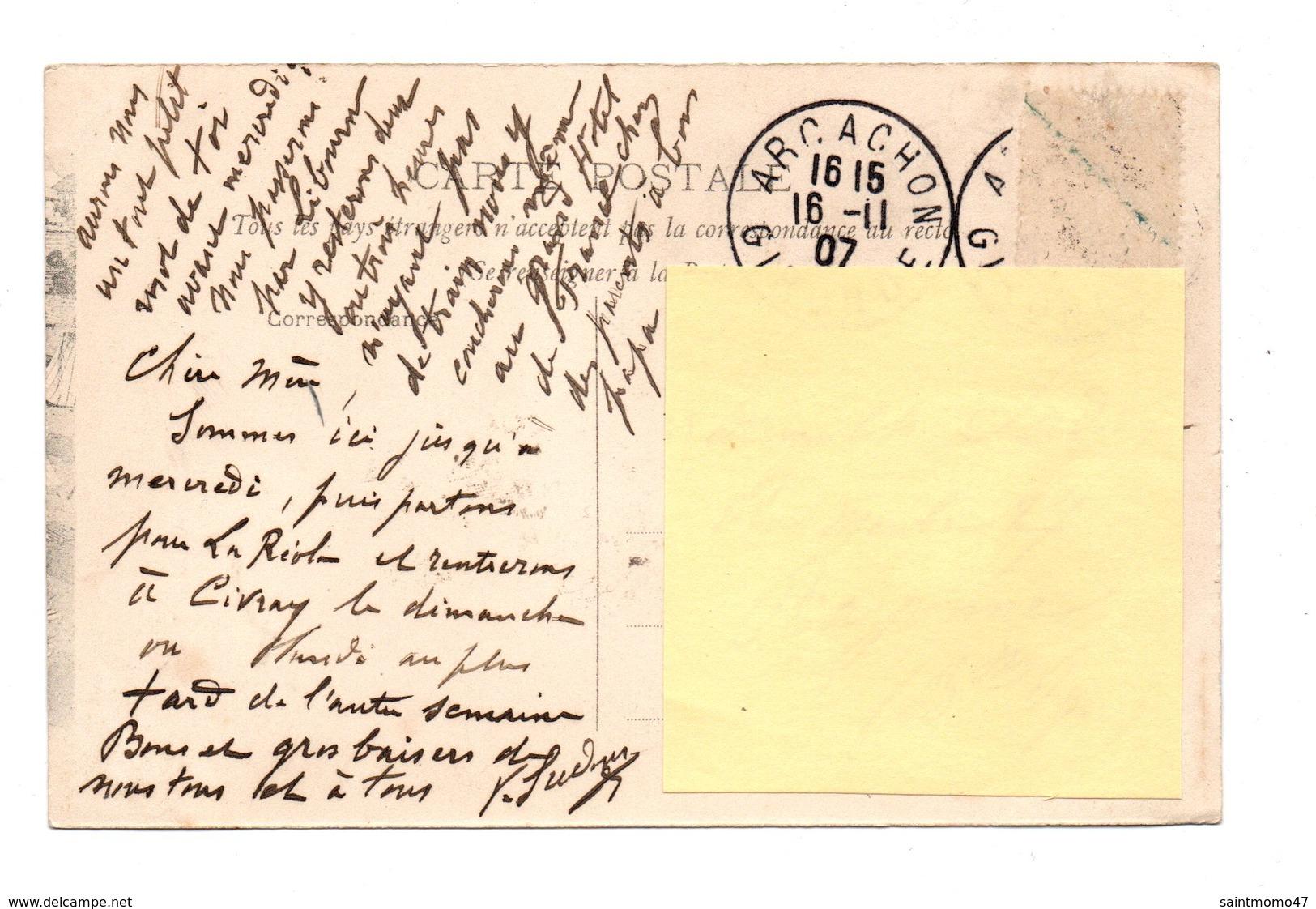33 - ARCACHON . L'HEURE DE LA CAUSERIE SUR LA PLAGE - Réf. N°8258 - - Arcachon