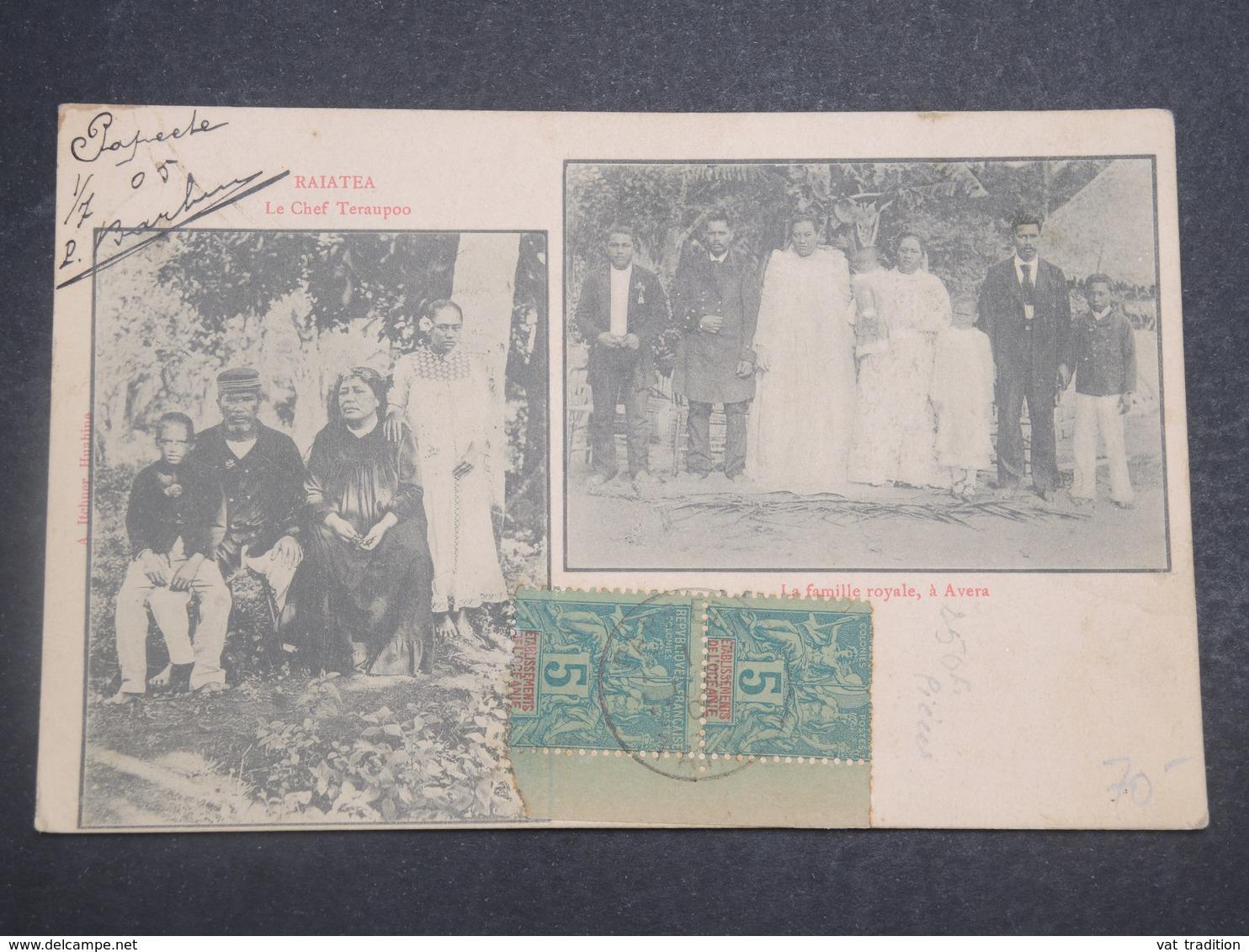 POLYNÉSIE FRANÇAISE - Carte Postale De Avera , La Famille Royale , Cp Voyagé En 1905 - L 14917 - Polynésie Française