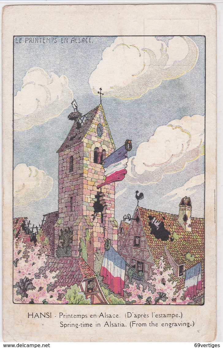 HANSI, Printemps En Alsace, Au Dos Publicité, Poudre De Beauté E.Coudray, Paris - Hansi