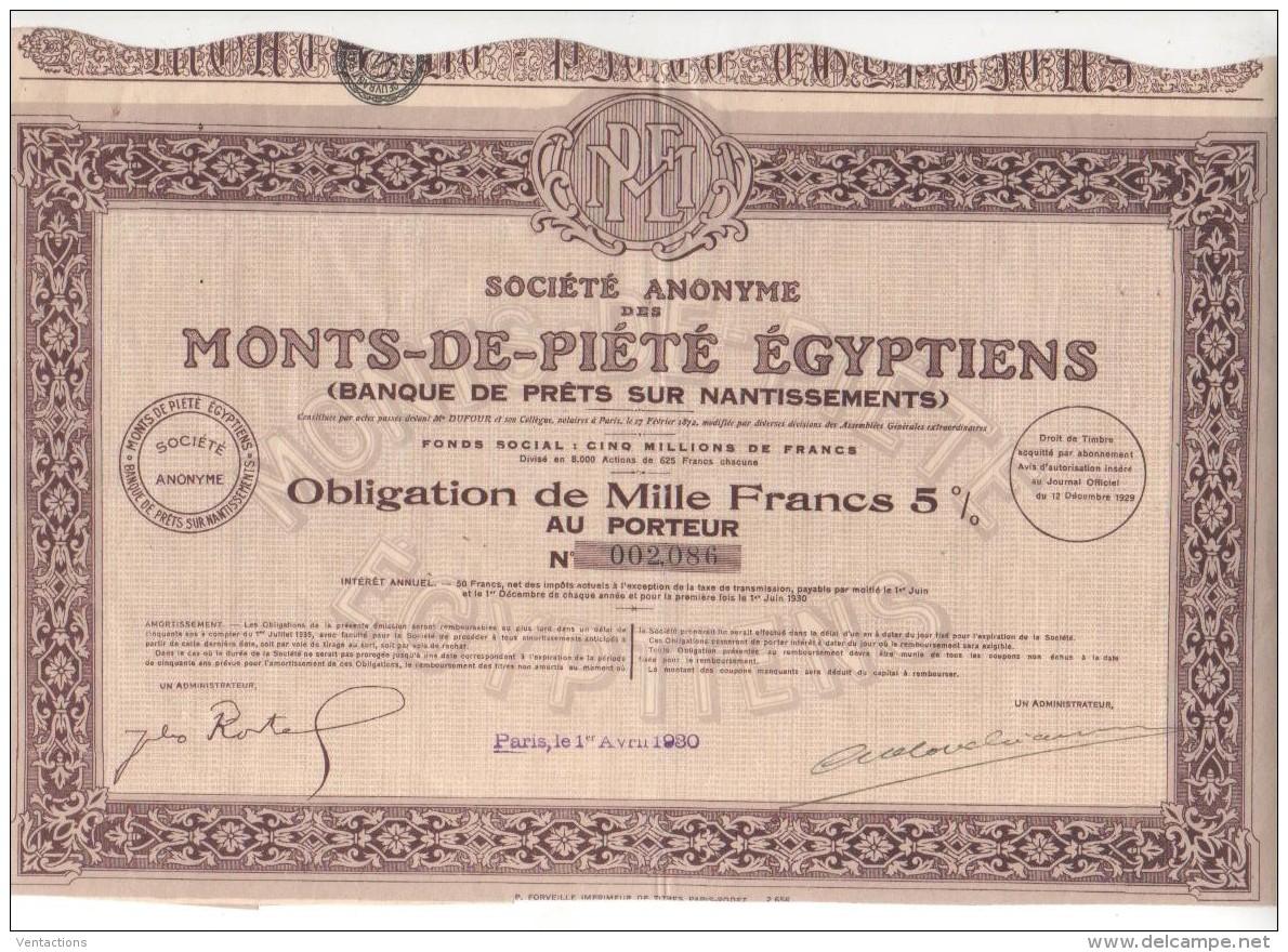 75-MONTS DE PIETE EGYPTIENS. BANQUE DE PRÊT SUR NANTISSEMENTS - Other
