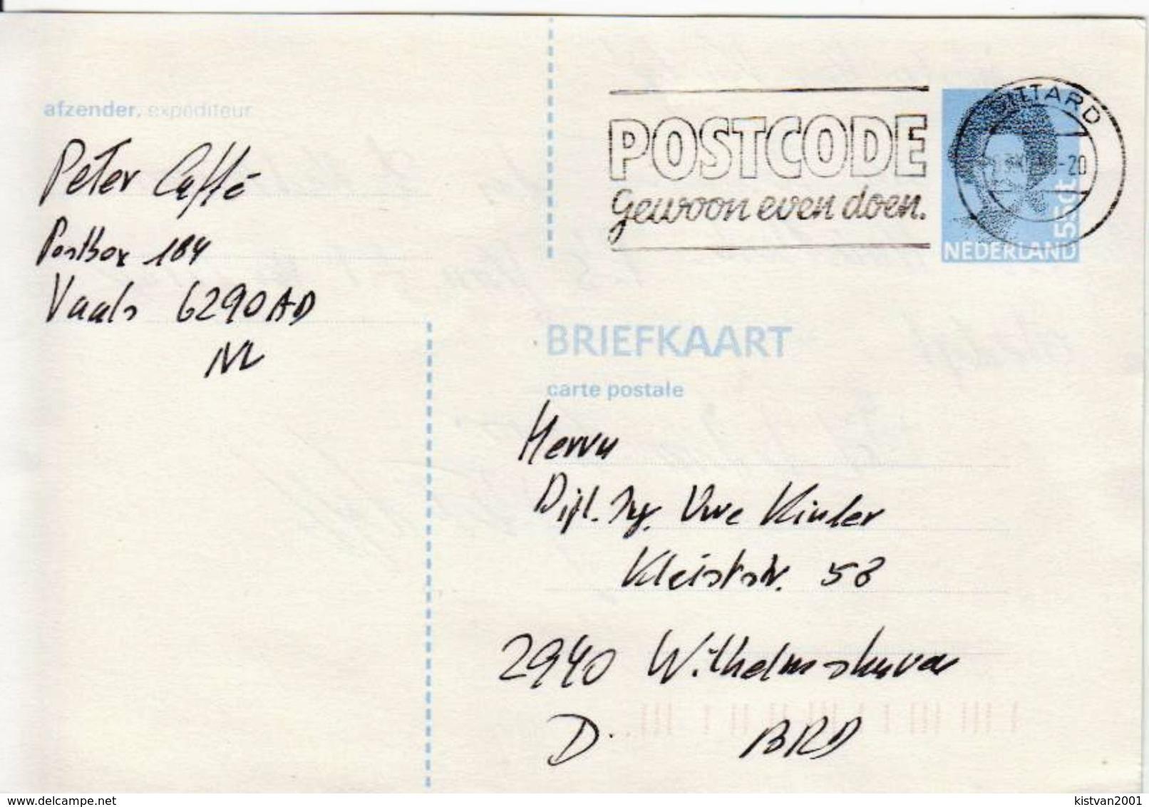 Postal History: Netherlands Postal Stationery - Postal Stationery