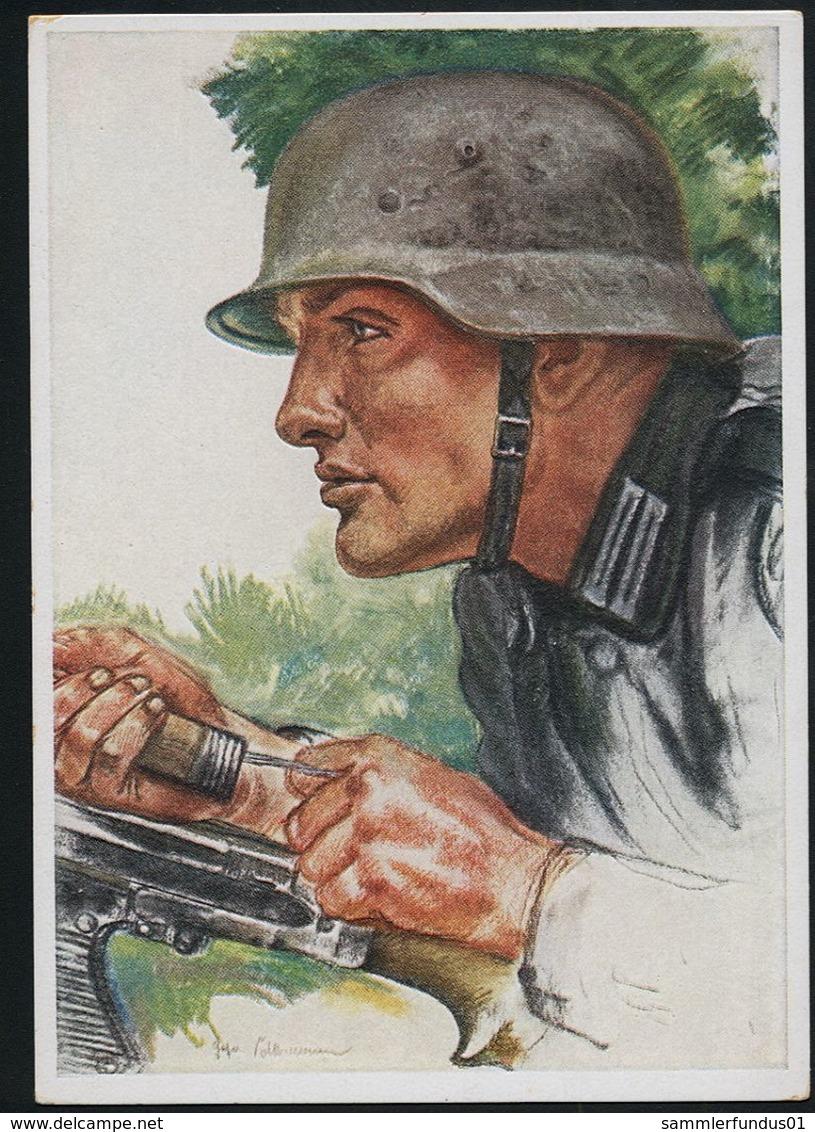 AK/CP Panzer Pionier    Willrich  Propaganda  Ungel/uncirc. 1933-45  Erhaltung/Cond. 2   Nr. 00371 - Guerre 1939-45