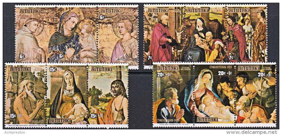A5189 AITUTAKI 1975, SG 151-62   Christmas,  MNH - Aitutaki