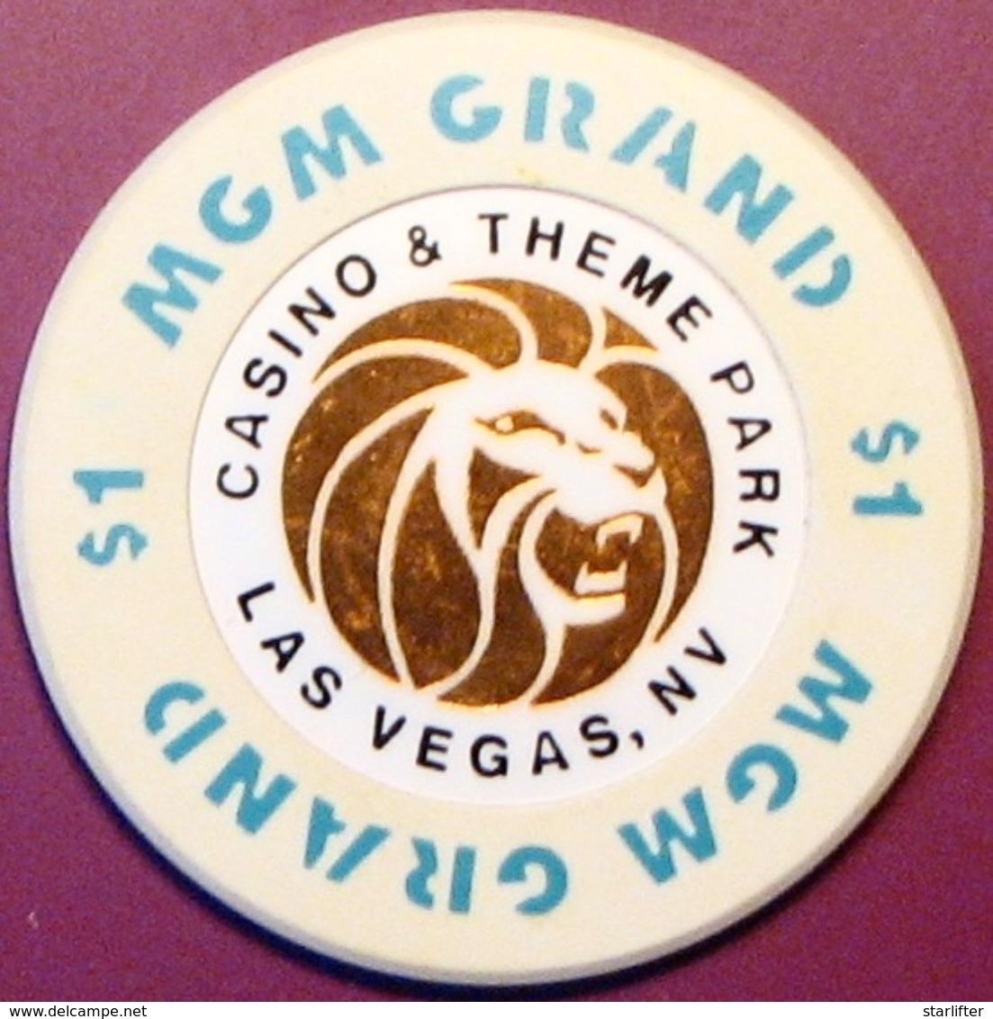 $1 Casino Chip. MGM Grand, Las Vegas, NV. M11. - Casino