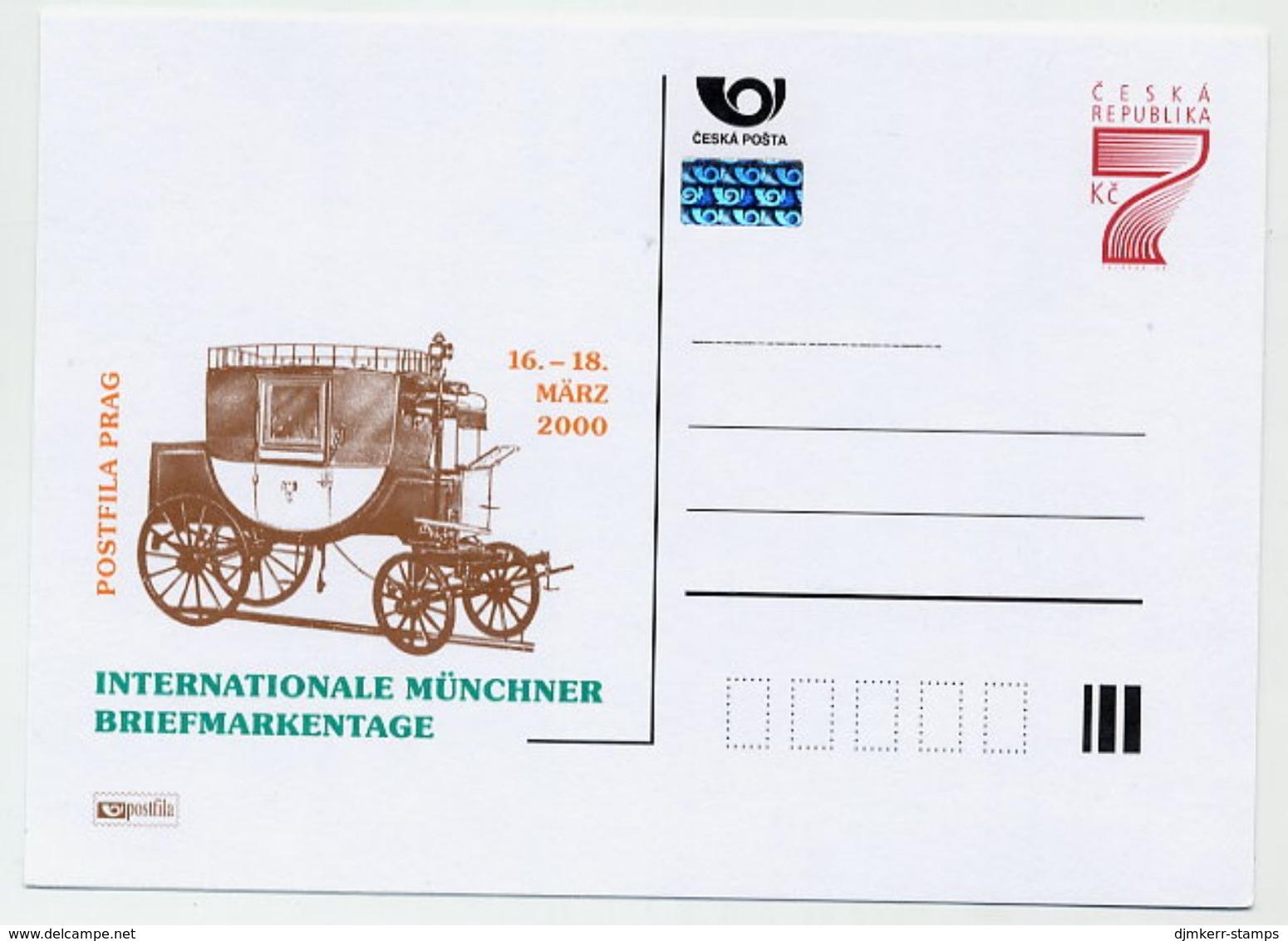 CZECH REPUBLIC 1999 7 Kc Postcard Münchner Briefmarkentage Unused.  Michel P41 II-A1 - Postal Stationery