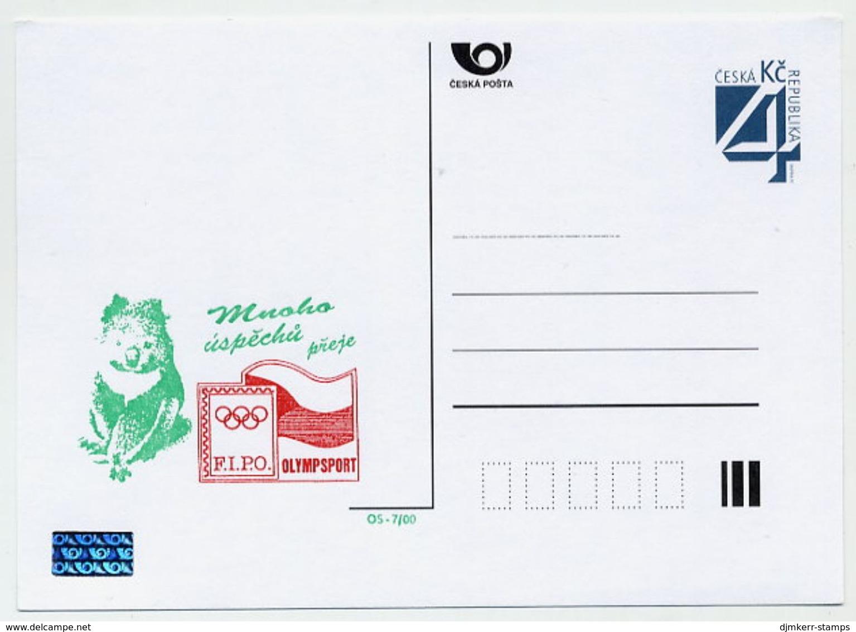 CZECH REPUBLIC 2000 4 Kc Olympic Philately Privately Printed Postcard Unused. - Postal Stationery